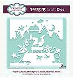 Creative Expressions Paper Cuts Look Out Santa.s About Double Edger Craft Die