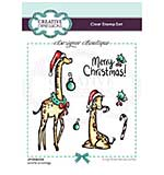 Creative Expressions Designer Boutique Collection Giraffe Greetings A6 Clear Stamp Set