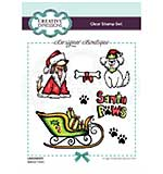 Creative Expressions Designer Boutique Collection Santa Paws A6 Clear Stamp Set