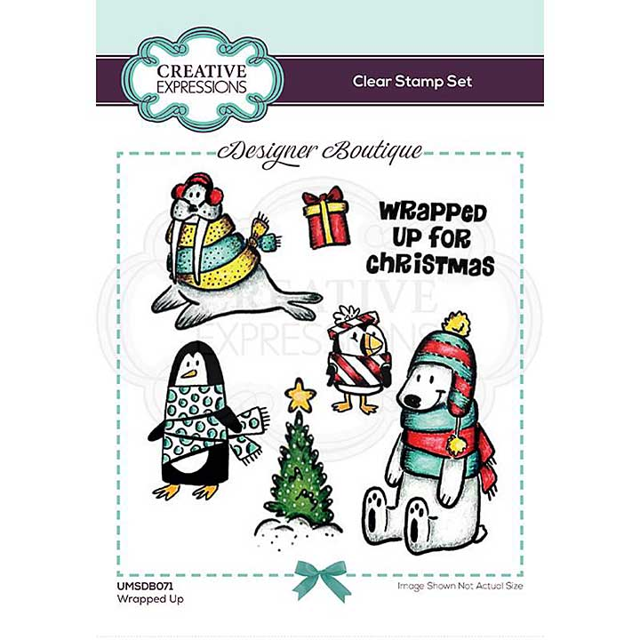 Creative Expressions Designer Boutique Collection Wrapped Up A6 Clear Stamp Set