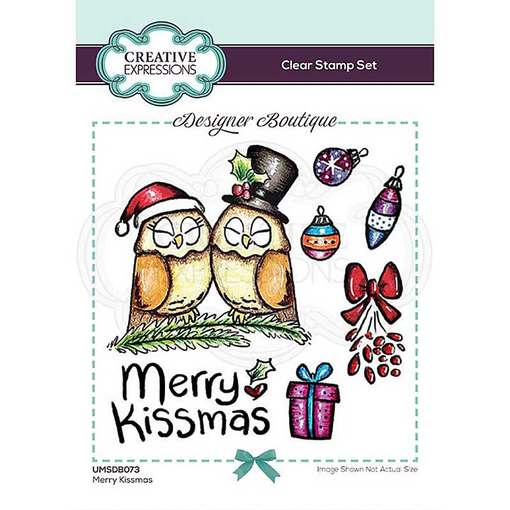 SO: Creative Expressions Designer Boutique Collection Merry Kissmas A6 Clear Stamp Set