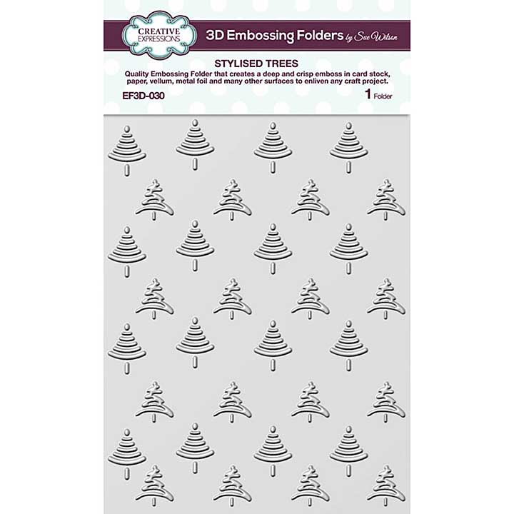 Creative Expressions Stylised Trees 3D Embossing Folder (5.75in x 7.5in)