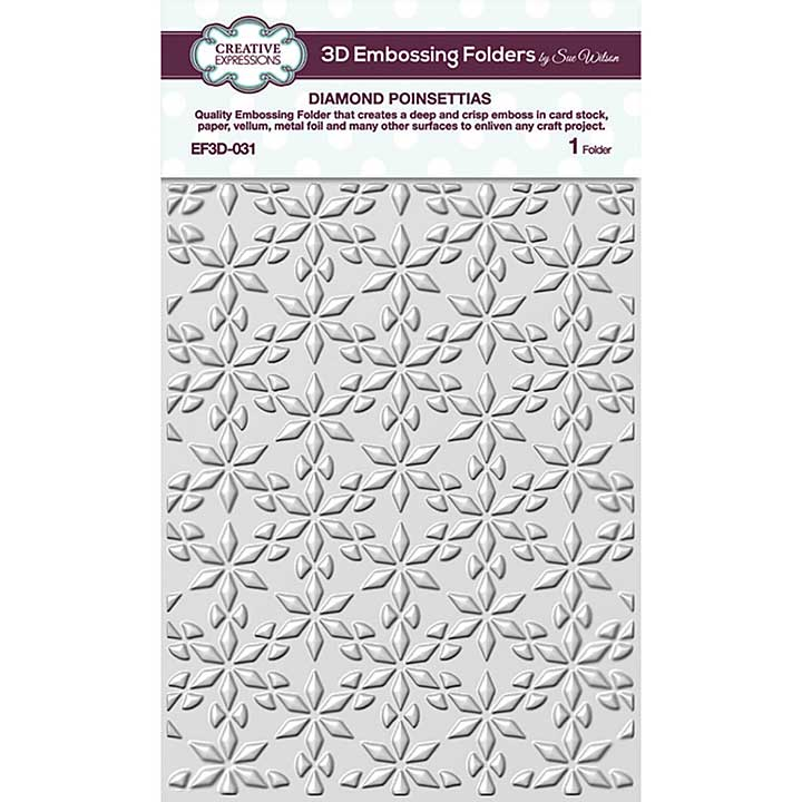 Creative Expressions Diamond Poinsettias 3D Embossing Folder (5.75in x 7.5in)