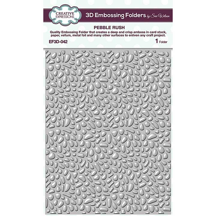 Creative Expressions Pebble Rush 3D Embossing Folder (5.75in x 7.5in)
