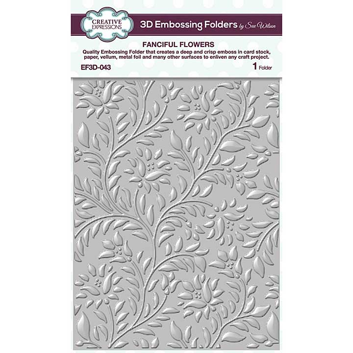 Creative Expressions Fanciful Flowers 3D Embossing Folder (5.75in x 7.5in)