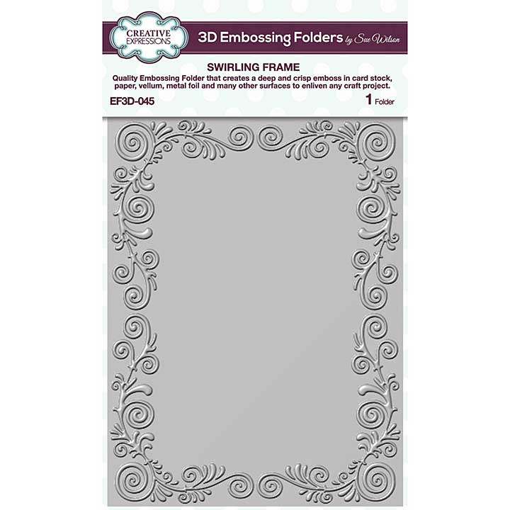 Creative Expressions Swirling Frame 3D Embossing Folder (5.75in x 7.5in)
