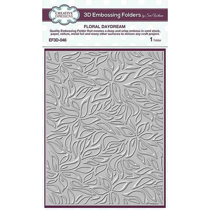 Creative Expressions Floral Daydream 3D Embossing Folder (5.75in x 7.5in)