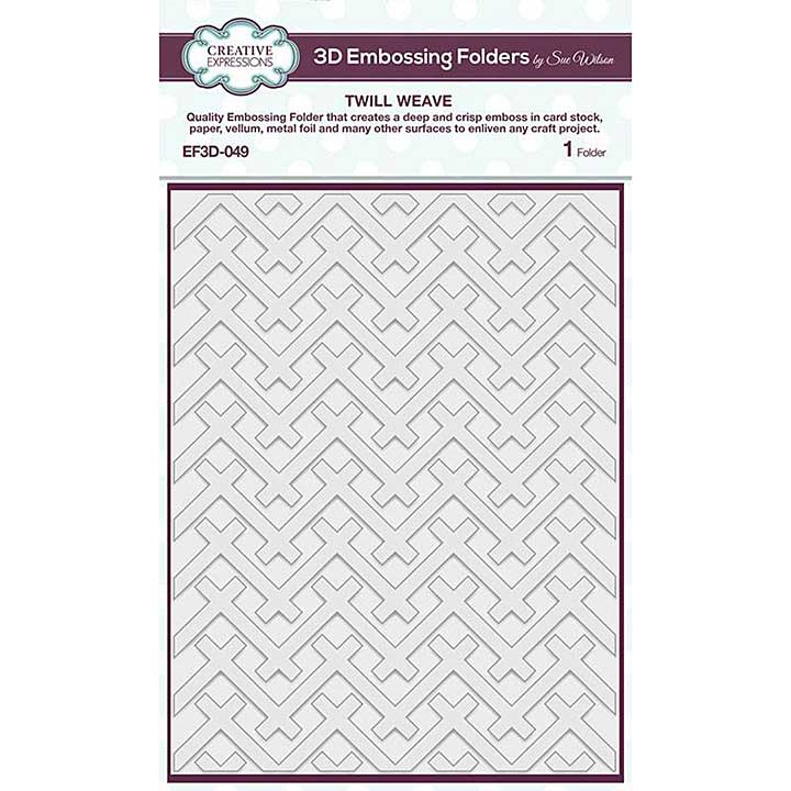 Creative Expressions Twill Weave 3D Embossing Folder (5.75in x 7.5in)