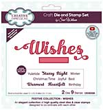 Creative Expressions Craft Die And Stamp Set By Sue Wilson - Wishes