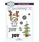Creative Expressions Fabiola Giardinaro Reindeer Snowman A6 Clear Stamp Set