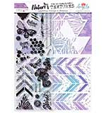 Angela Poole Natures Textures Chevron Layering Stamps & Stencil Set