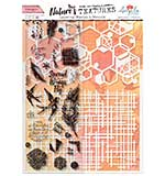 Angela Poole Natures Textures Hexagon Layering Stamps & Stencil Set