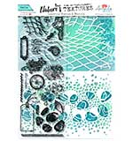 Angela Poole Natures Textures Pebble Layering Stamps & Stencil Set