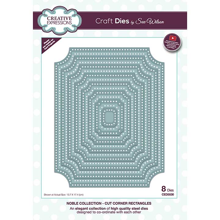 SO: Creative Expressions Sue Wilson Noble Collection Cut Corner Rectangles Craft Die