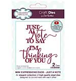 SO: Creative Expressions Sue Wilson Mini Expressions Duos Just A Note Craft Die