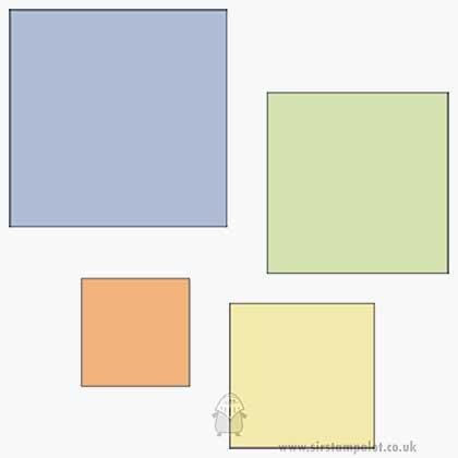 Cuttlebug Die Set - Squares (2x2 set)