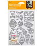 Cuttlebug Cut and Emboss Die - Holiday Sampler, 20pk