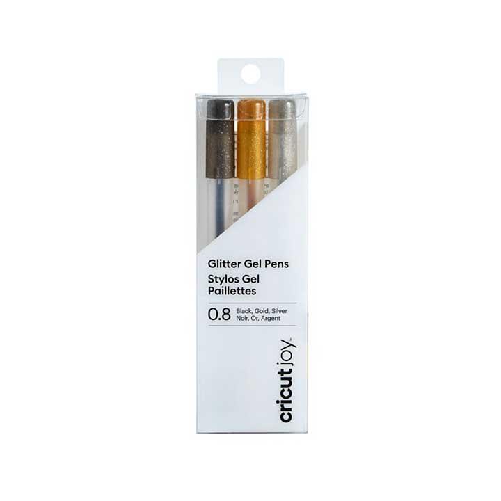 Cricut Joy Pen Set - Fine Point 0.8mm Metallics (Black, Gold, Silver)