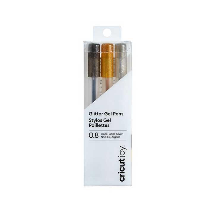 Cricut Joy Pen Set Fine Point 0.8mm Metallics (Black, Gold, Silver)