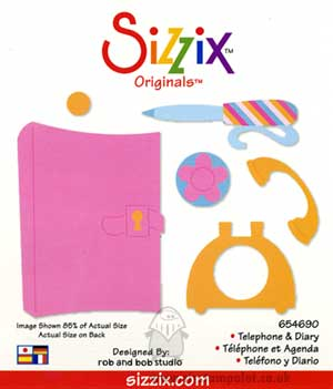 Sizzix Die Originals L -Telephone and Diary [D]