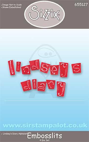 Sizzix Embosslits (4 die Alphabet) - Lindsey\'s Diary Cut Emboss
