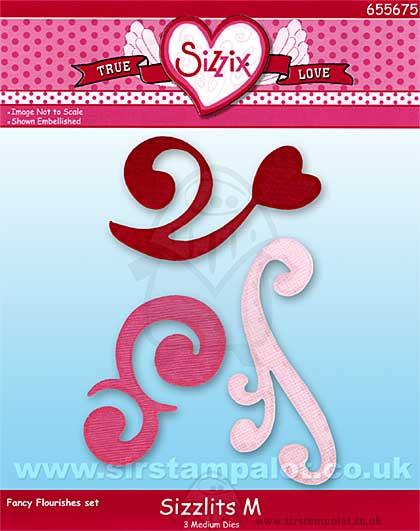 Sizzix Sizzlits Set 3pk M - Fancy Flourishes set [D]