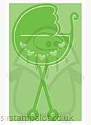 Singlz Embossing Folder - Baby Buggy [M]