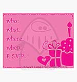 Singlz Embossing Folder - Birthday Invitation [L]