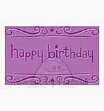 Singlz Embossing Folder - Phrase Happy Birthday [M]