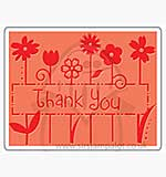Singlz Embossing Folder - Phrase Thank You [L]