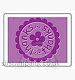 Singlz Embossing Folder - Phrase Thanks Circle [S]