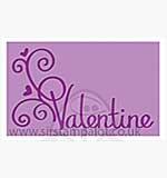 Singlz Embossing Folder - Phrase Valentine [M]