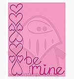 Singlz Embossing Folder - Phrase Be Mine [L]