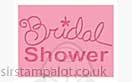Singlz Embossing Folder - Phrase Bridal Shower [S]