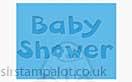 Singlz Embossing Folder - Phrase Baby Shower [S]