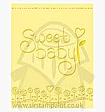 Singlz Embossing Folder - Phrase Sweet Baby [L]