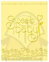 Singlz Embossing Folder - Phrase Sweet Baby [L]
