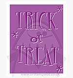 Singlz Embossing Folder - Phrase Trick or Treat [S]