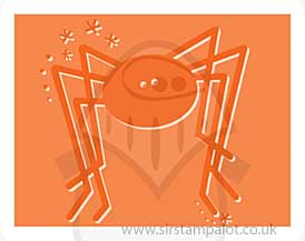 Singlz Embossing Folder - Spider [S]