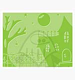 Singlz Embossing Folder - Spooky House [L]