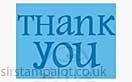 Singlz Embossing Folder - Phrase Thank You #2 [S]