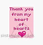 Singlz Embossing Folder - Phrase Heart of Hearts [S]