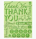 Singlz Embossing Folder - Phrases Thank You [L]