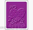 Singlz Embossing Folder - Heart with Dots and Flowers [S]