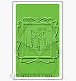 Singlz Embossing Folder - Phrase Best Friends with Frame [M]