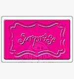 Singlz Embossing Folder - Surprise word with Frame [M]