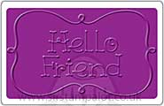 Singlz Embossing Folder - Hello Friend [M]