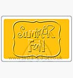 Singlz Embossing Folder - Summer Fun word [M]