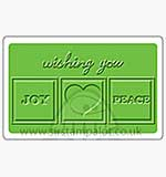 Singlz Embossing Folder - Phrase Joy Love and Peace [M]