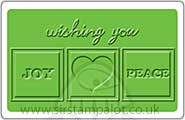 Singlz Embossing Folder - Phrase Joy Love and Peace [M]